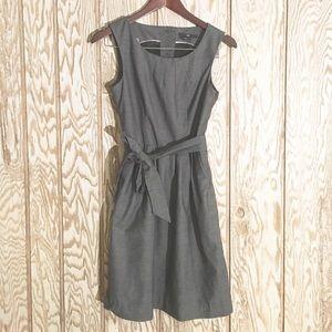 H&M charcoal gray A line suit dress sz4